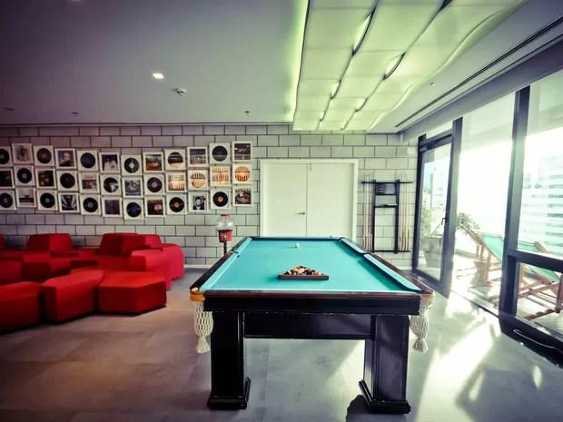 Mesa de sinuca em área para funcionários da nova sede do Google em São Paulo (Foto: Divulgação)