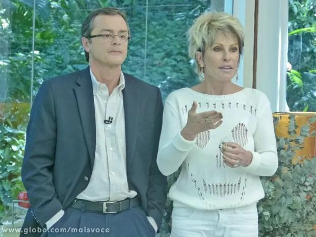 Cardiologista explica para Ana Maria o tratamento para a estenose aórtica (Foto: Mais Você / TV Globo)