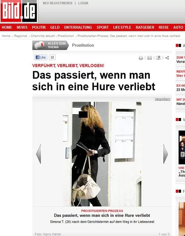 Prostituta tcheca é acusada de enganar um cliente apaixonado. (Foto: Reprodução/Bild)