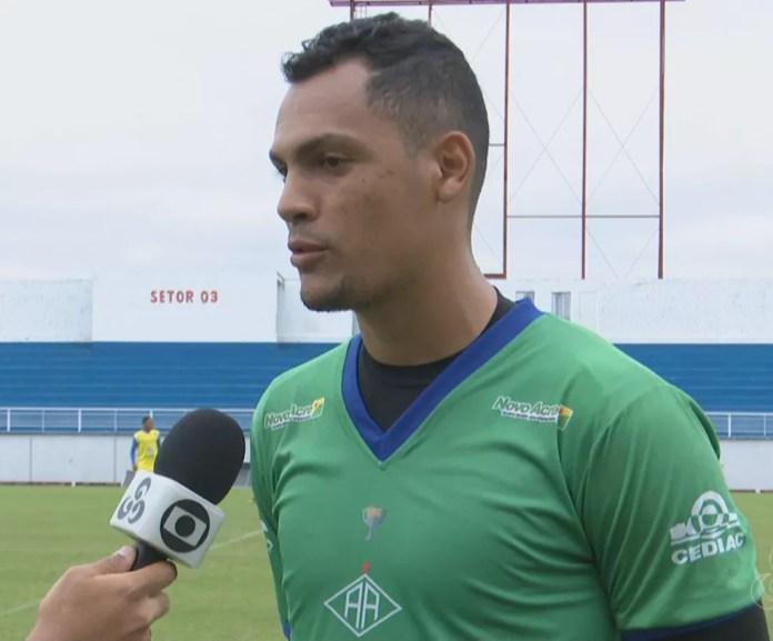 Goleiro Ruan foi titular em todos os jogos do Atlético-AC no 1º turno da Série C (Foto: Reprodução/Rede Amazônica Acre)