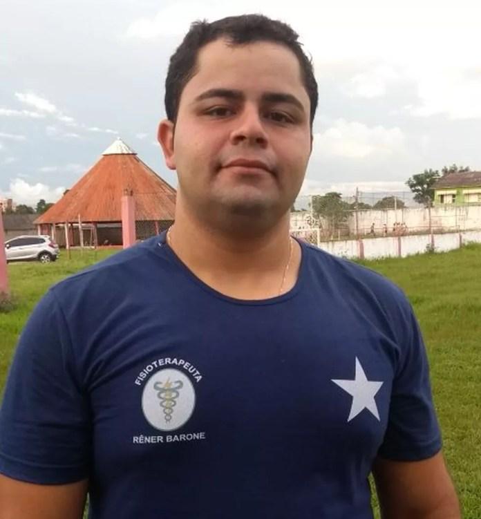 Rêner Barone é membro da equipe de fisioterapia do Rio Branco-AC (Foto: Lillian Lima/Rede Amazônica Acre)