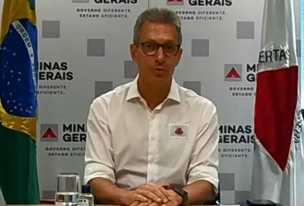 Romeu Zema (Novo) confirma paralisação do Campeonato Mineiro após a quinta rodada — Foto: Reprodução/EPTV