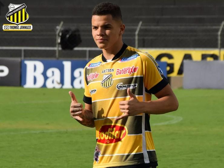 Rodrigo, ex-atacante do Novorizontino e agora no Real Madrid (Foto: Thomaz Jannuzzi/Grêmio Novorizontino)