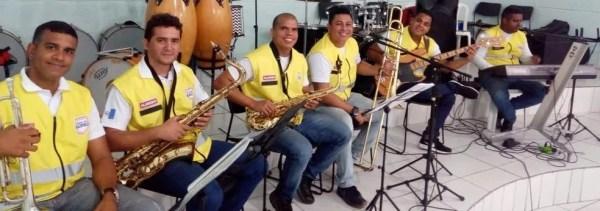 Banda de música do Ronda no Bairro — Foto: Divulgação/Ronda no Bairro
