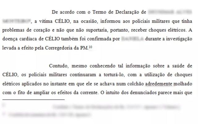 Testemunhas relataram as agressões sofridas por Sousa (Foto: Reprodução)