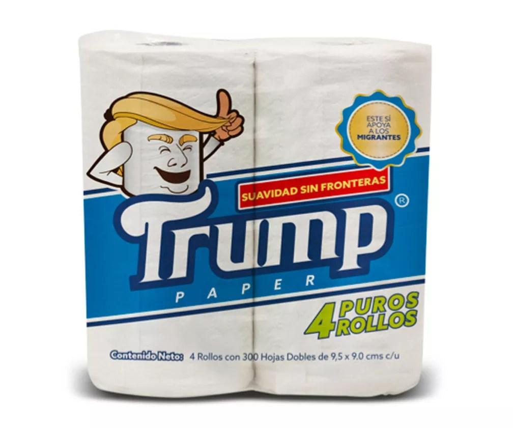 Empresário anuncia papel higiênico marca 'Trump' no México (Foto: Antoni Battaglia via AP)