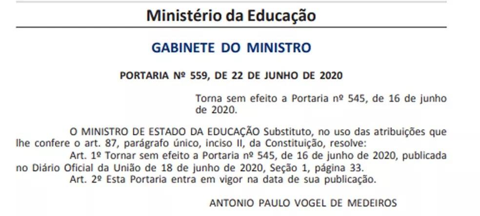 — Foto: Reprodução / Diário Oficial da União