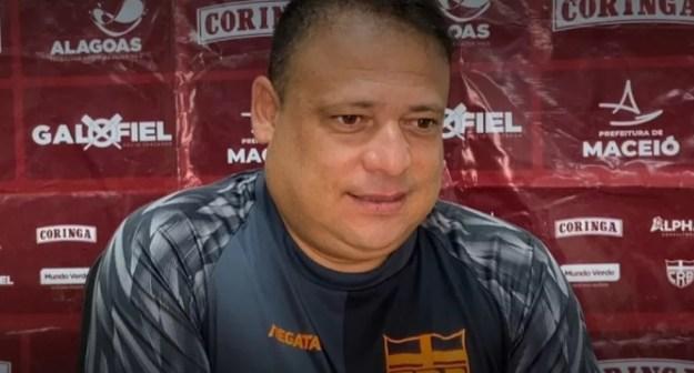 Fernando Alves admitiu que CRB pode jogar mais — Foto: Divulgação/Ascom CRB
