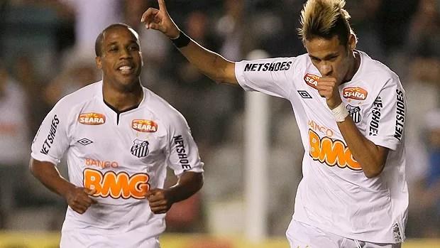 Neymar Borges gol Santos (Foto: Ag. Estado)