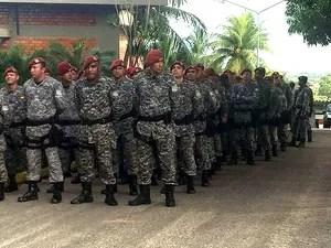 Reforço da Força Nacional visa permitir mobilidade de equipes da PM-MA  (Foto: Regina Souza/TV Mirante)