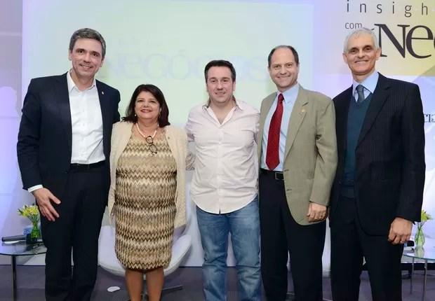 Enéas Pestana, Luiza Trajano, Marcio Kumruian, Maurício Morgado e David Cohen (Foto: Cleiby Trevisan)