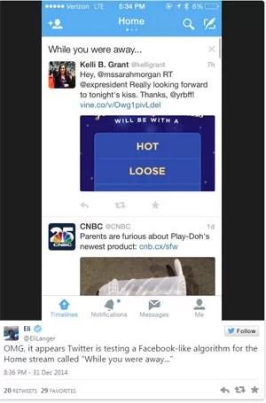 App do Twitter ganha função para ler tuítes publicados na ausência do usuário (Foto: Reprodução/Twitter)