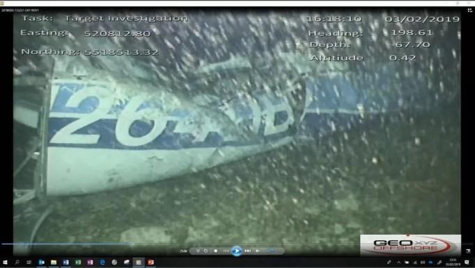 Imagem de destroço de avião que transportava o jogador Emiliano Sala é divulgada pela agência britânica de investigações de acidentes aéreos — Foto: Reprodução/ Twitter/ AAIB