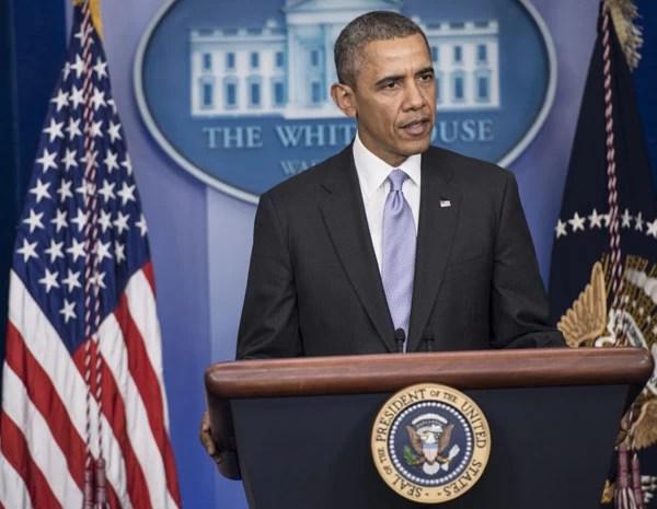 Obama faz discurso sobre a crise na Ucrânia nesta sexta, na Casa Branca. (Foto: Brendan Smialowski/AFP PHOTO)