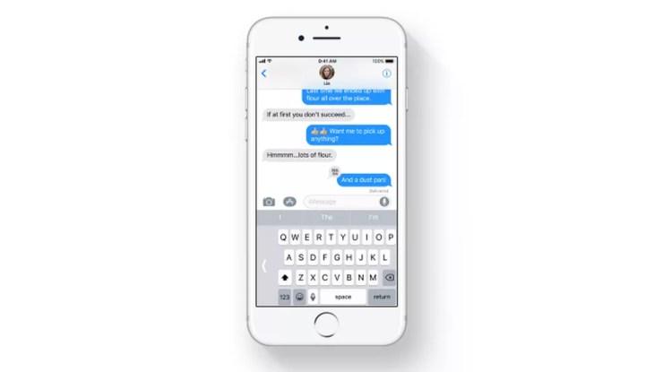 Teclado do iPhone tem modo para uma mão (Foto: Divulgação/Apple)