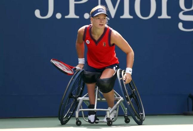 Diede de Groot na final do US Open — Foto: Elsa/Getty Images
