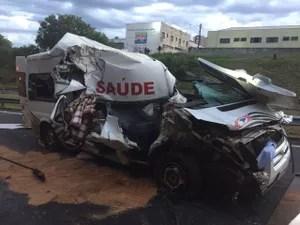Colisão foi na Rodovia Marechal Rondon (Foto: Corpo de Bombeiros/Divulgação)