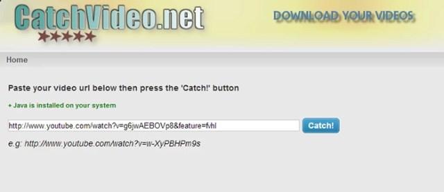 CatchVideo é simples de usar e permite download tamv´m de vídeos do Dailymotion (Foto: Reprodução/Paulo Alves)