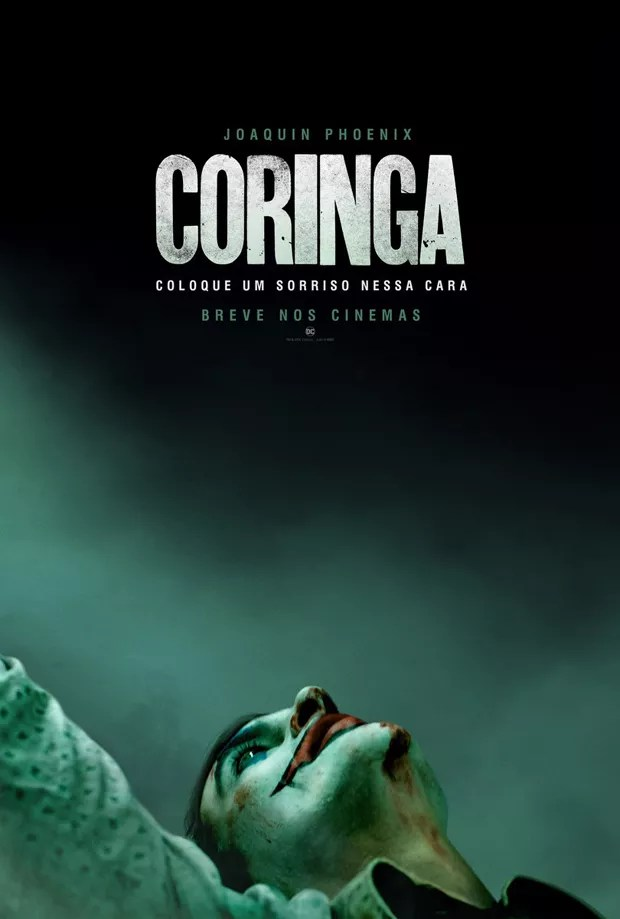 Joaquin Phoenix no pôster de Coringa (Foto: Reprodução Twitter)