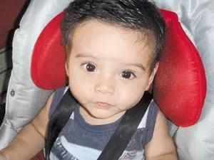 Filho de Andressa Prado Oliveira, Goiás (Foto: Reprodução TV Anhanguera)