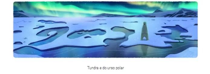 Tundra é um dos biomas do doodle Dia da Terra 2016 (Reprodução/Carol Danelli)