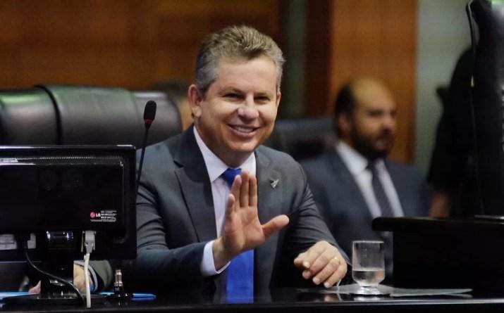 Mauro Mendes (DEM) foi eleito no primeiro turno das eleições — Foto: Governo de MT/ Assessoria