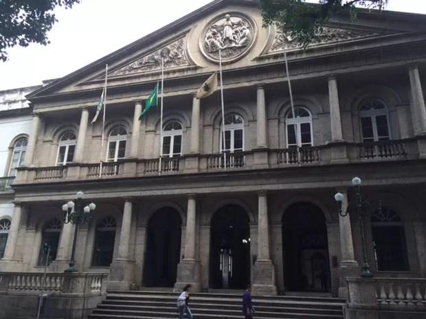 Fachada do Hospital Geral da Santa Casa de Misericórdia do Rio de Janeiro, no Centro, considerado o coração da instituição (Foto: Cristina Boeckel/ G1)