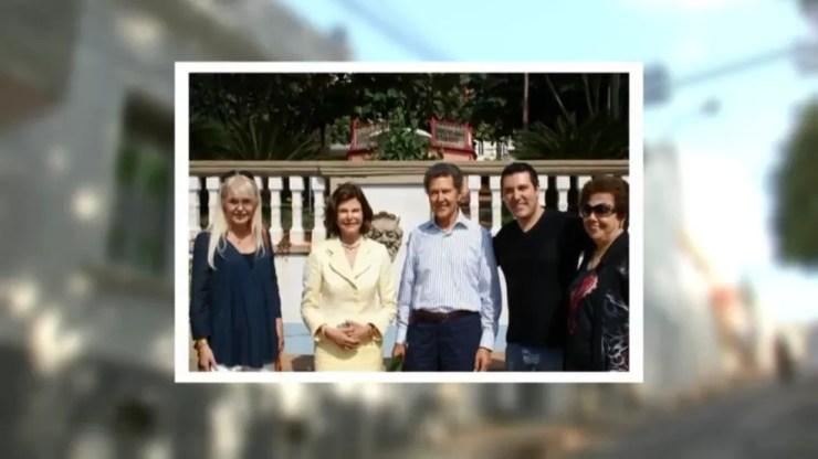 Rainha Silvia da Suécia já visitou São Manuel (SP) (Foto: Reprodução/TV TEM )