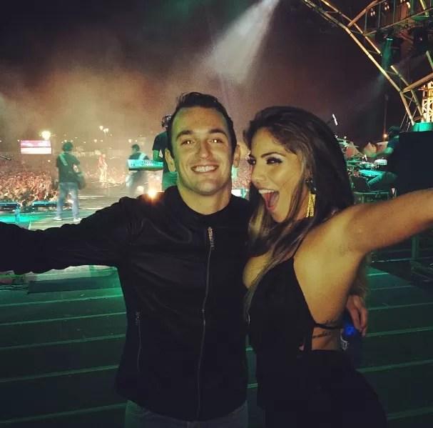 Diego Hypolito e Anamara em show no Country Festival (Foto: Reprodução  / Instagram)