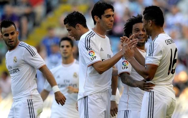 Comemoração Casemiro - Real Madrid x La Coruña (Foto: Miguel Riopa / AFP)