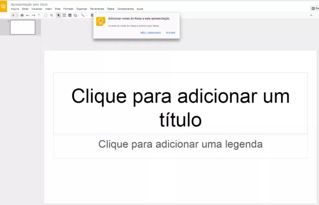 Google Slides (Foto: Reprodução/Google Slides)