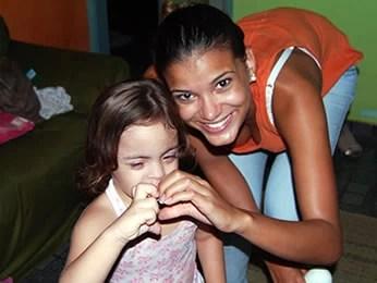 Miss Brasil Jakelyne e a irmã (Foto: Arquivo pessoal)