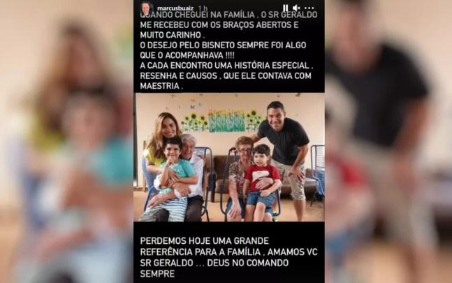 Publicação do empresário Marcus Buaiz, esposo da Wanessa Camargo — Foto: Reprodução/Instagram