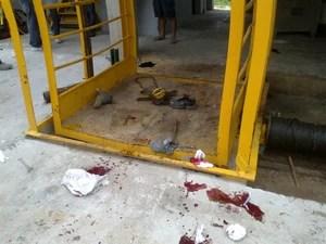 Polícia vai investigar causas do acidente no elevador (Foto: Corpo de Bombeiros de Içara/Divulgação)