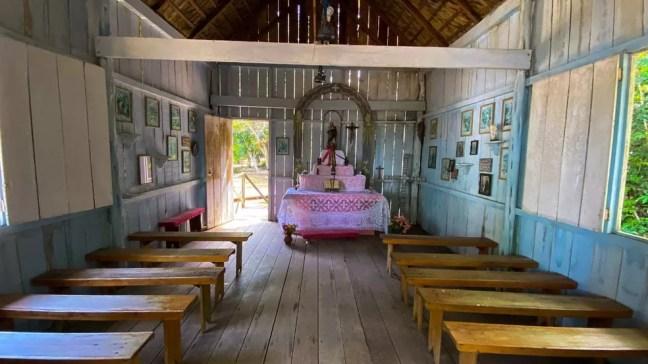 Capela de Nossa Senhora da Conceição, padroeira do Amazonas  — Foto: Foto: Luis Paulo Dutra/G1 AM