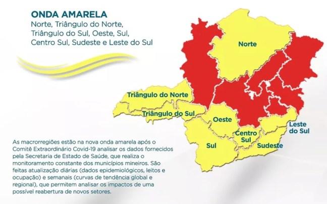 Nova Onda Amarela do 'Minas Consciente' — Foto: Governo de Minas/Divulgação