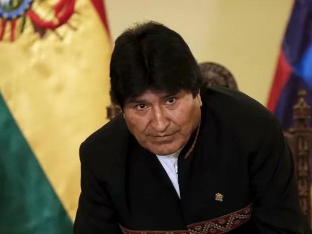 Presidente da Bolívia, Evo Morales, no Palácio Presidencial de La Paz, em foto de terça-feira (22) (Foto: David Mercado/ Reuters)