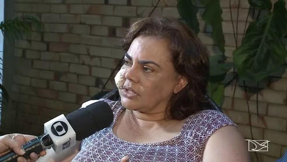 Núbia Dutra, ex-secretária de Administração e Finanças e ex-primeira dama de Paço do Lumiar (MA) — Foto: Reprodução/TV Mirante