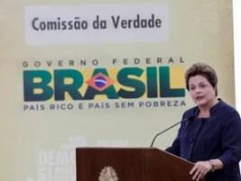 A presidente Dilma Rousseff durante instalação da Comissão da Verdade (Foto: Roberto Stuckert Filho / Presidência)