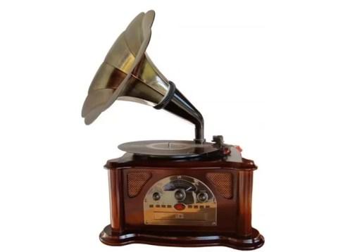 O gramofone foi inventado em 1888 pelo alemão Emil Berliner, e pode ser considerado o pai do vinil (Foto:Reprodução/escutecomigo)