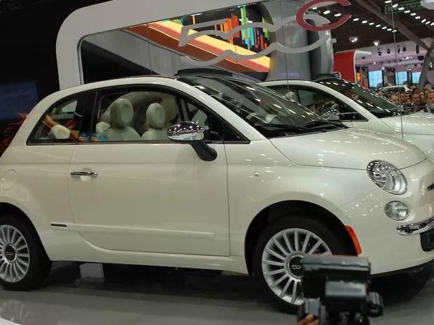Fiat expõe o 500 (Foto: Louise Calandrino/G1)