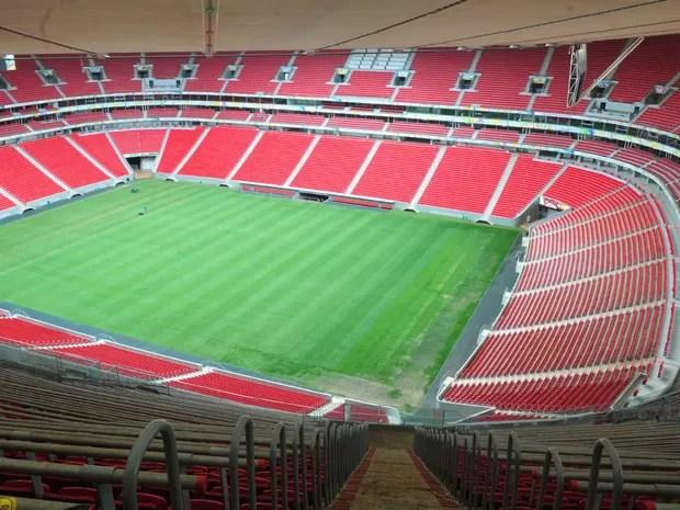 Vista interna do estádio Mané Garrincha, em Brasília (Foto: Tony Winston/GDF)