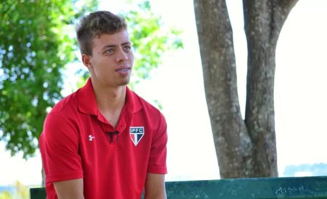 Lucas Fernandes São Paulo (Foto: Danilo Sardinha/GloboEsporte.com)