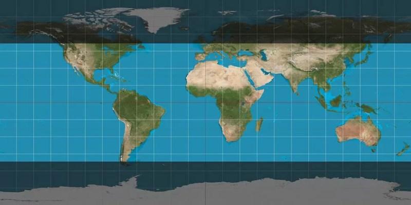 A área clara pode avistar a ISS a olho nu (FOTO: NASA)