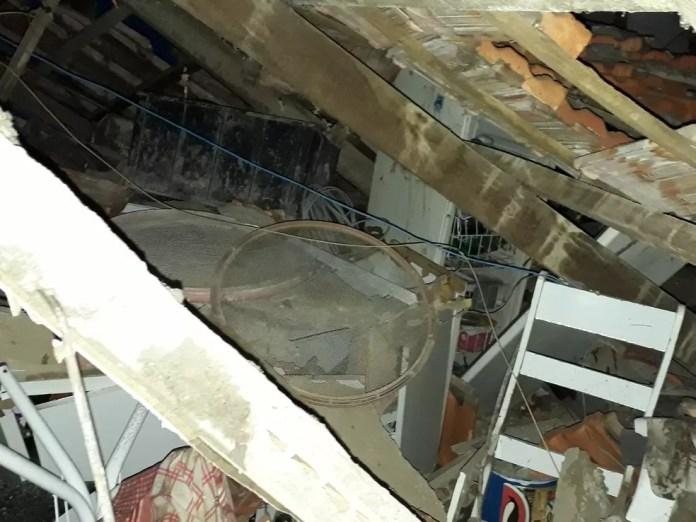 Destruição  após explosão provocada por vazamento de gás de cozinha afetou toda a residência em Campinas, em 13 de junho (Foto: Defesa Civil/Divulgação)