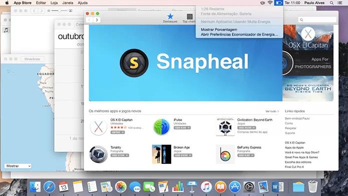 OS X abre vários apps sem consumir muita memória ou bateria (Foto: Reprodução/Paulo Alves)