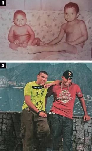 ASTRO FAMÍLIA 1. Naldo e Lula bebês. Desde cedo os irmãos não se largavam; 2. A dupla em cartaz da EMI; (Foto: Arquivo pessoal)