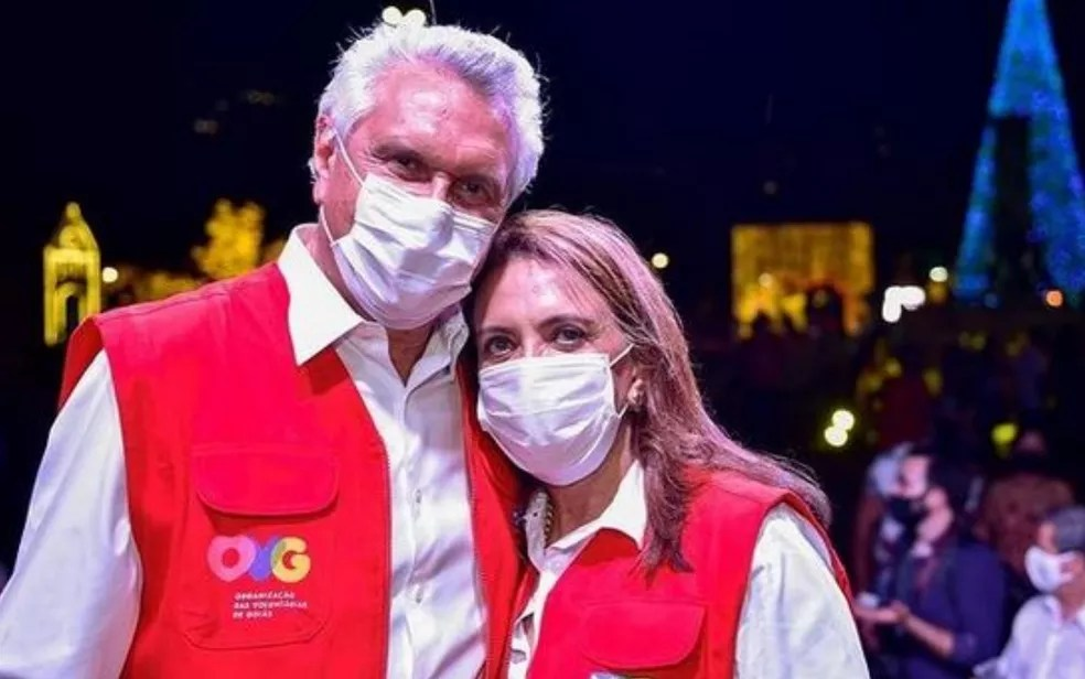 Governador de Goiás Ronaldo Caiado com a primeira-dama Gracinha Caiado em foto no dia 5 de novembro de 2020 — Foto: Reprodução/Instagram