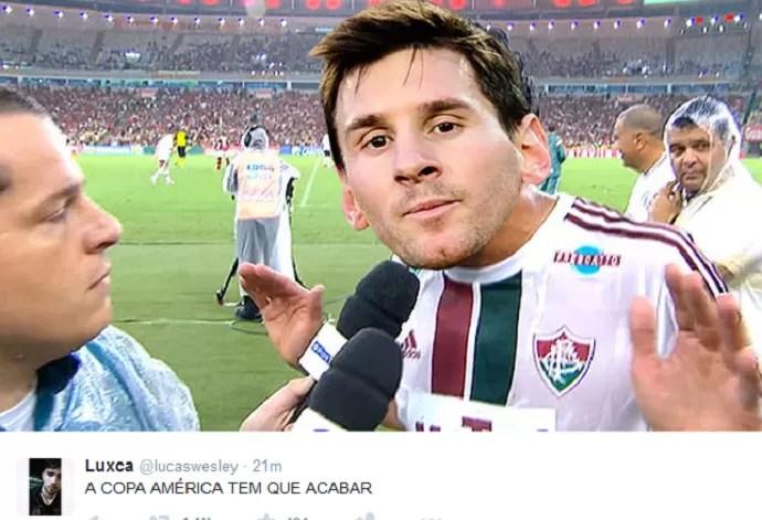 Messi zoações na web vice Copa America fluminense