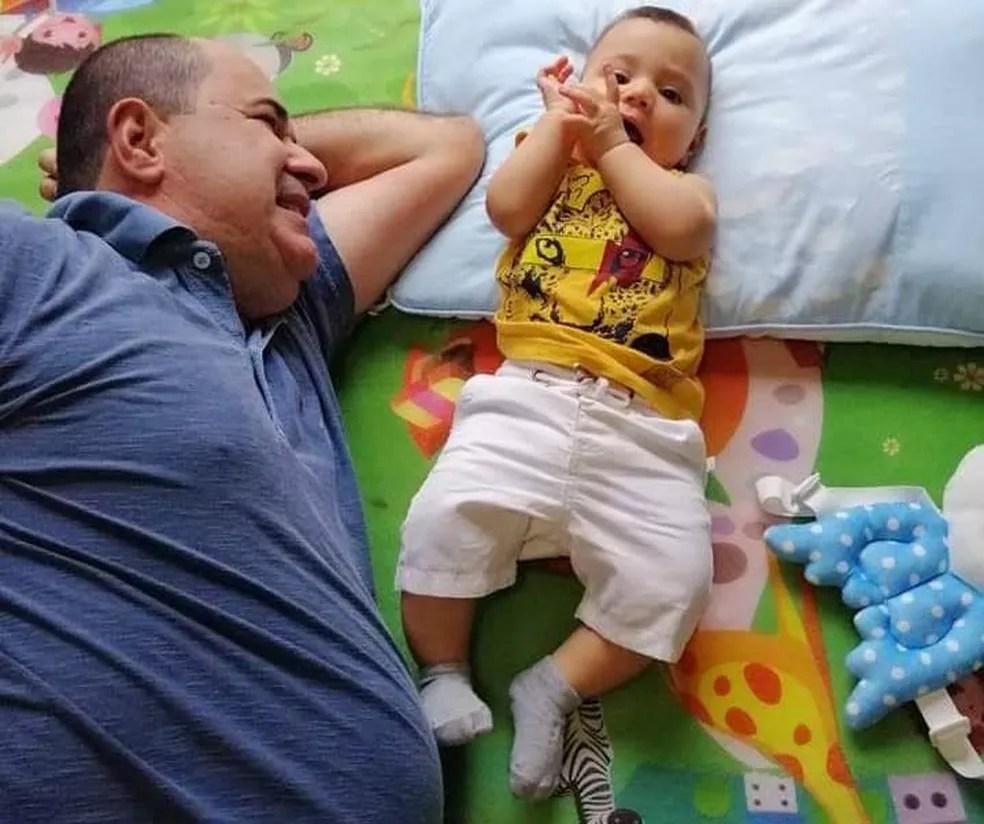 Ex-prefeito deixa filho de um ano  — Foto: Arquivo pessoal